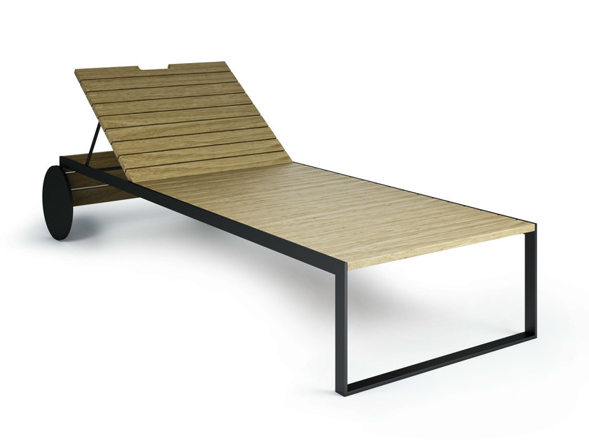 Recliner garden daybed with Casters GARDEN | Garden daybed - Röshults