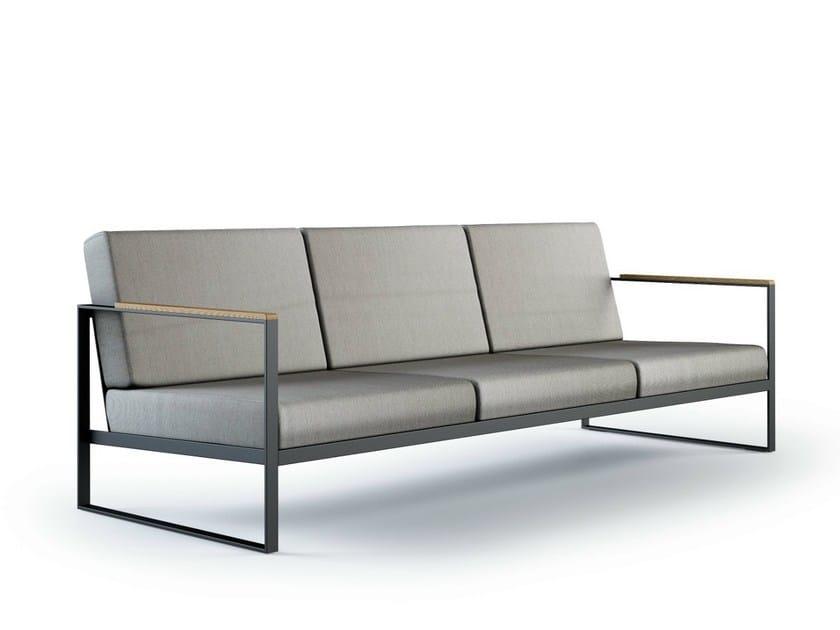 Sled base 3 seater garden sofa GARDEN EASY | 3 seater sofa - Röshults