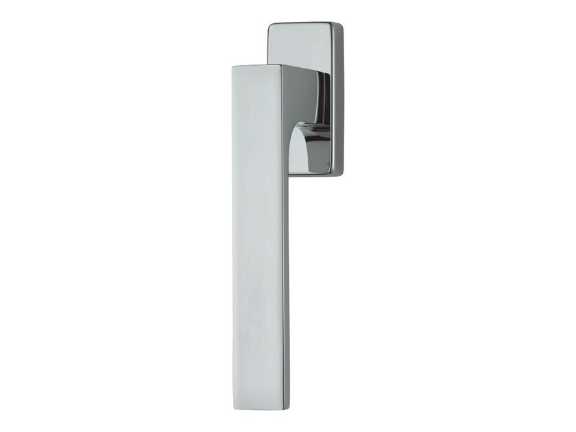 DK chromed brass window handle on rose ZEN | DK window handle by LINEA CALI'