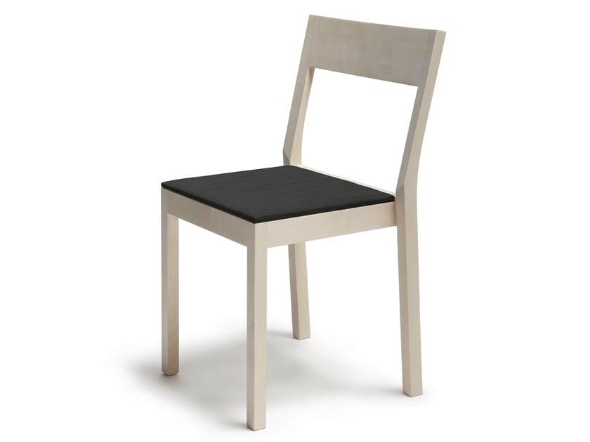 Stackable wooden chair SKANDINAVIA KVT6 by Nikari