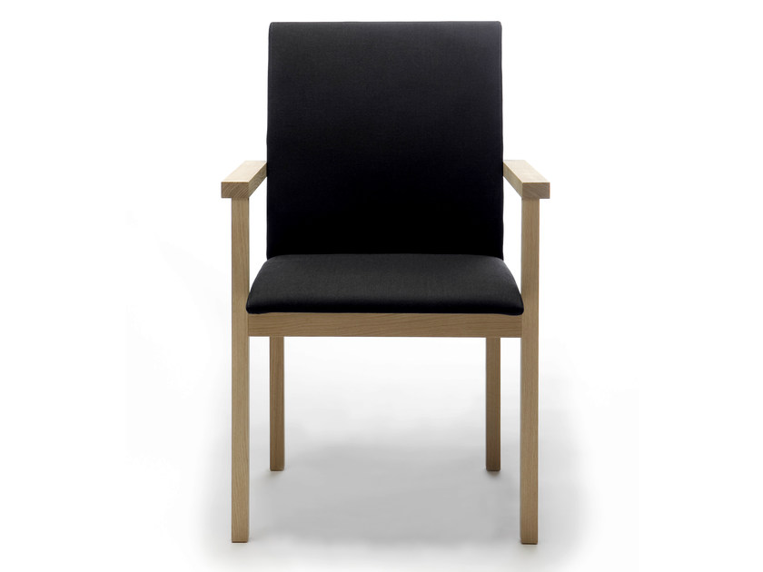 Wooden chair with armrests ARKITECTURE KVT9 by Nikari