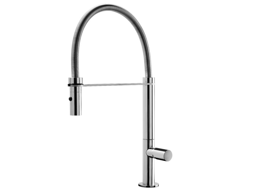 Kitchen mixer tap with pull out spray EMY - GEDA