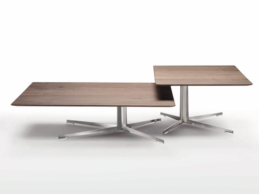 Rectangular wood veneer coffee table FLY | Rectangular coffee table - FLEXFORM