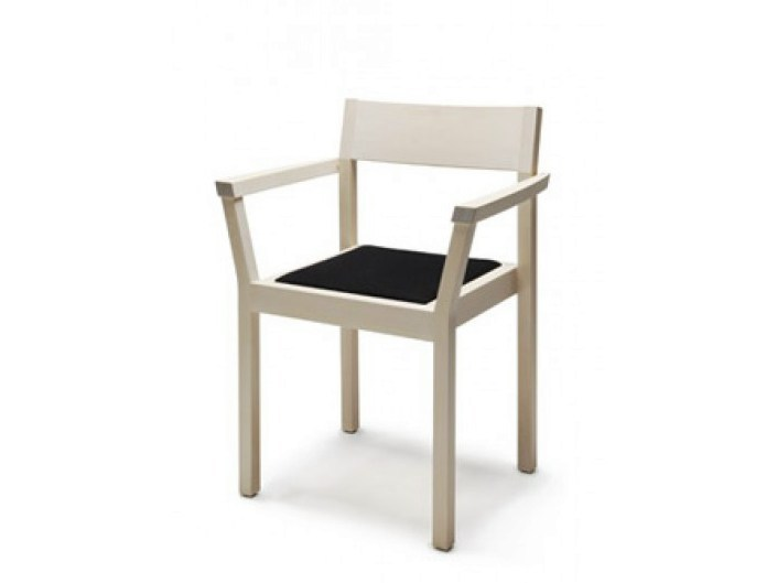 Stackable wooden chair with armrests PERIFERIA KVT3 - Nikari