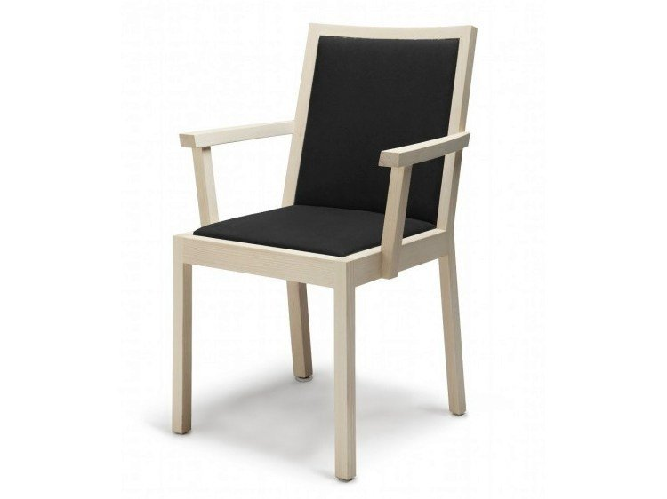 Wooden chair with armrests PERIFERIA KVT4 by Nikari