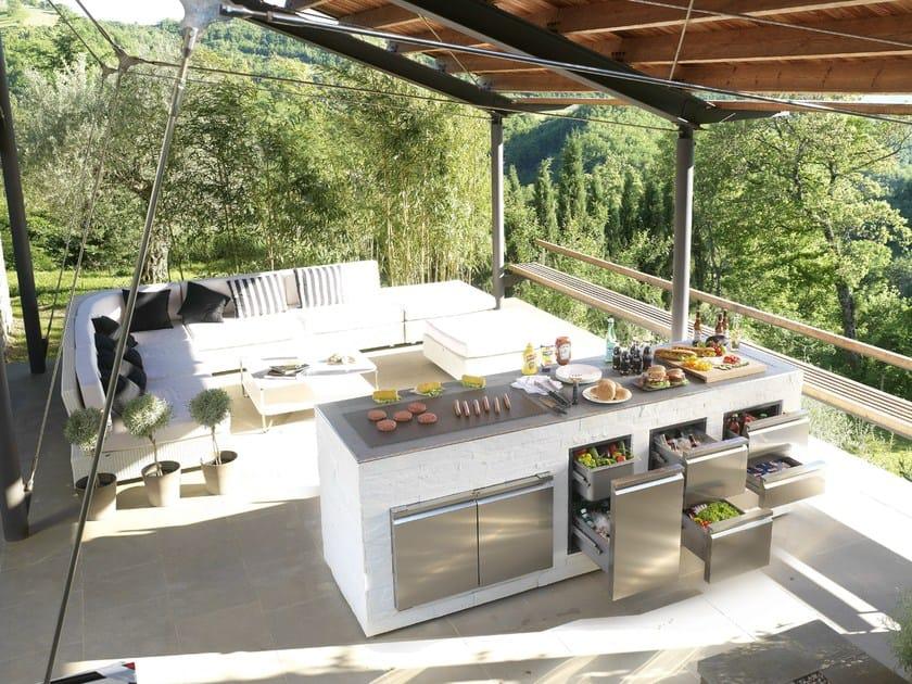 Cassetti e sportelli in acciaio inox per cucine esterne e barbecue ...