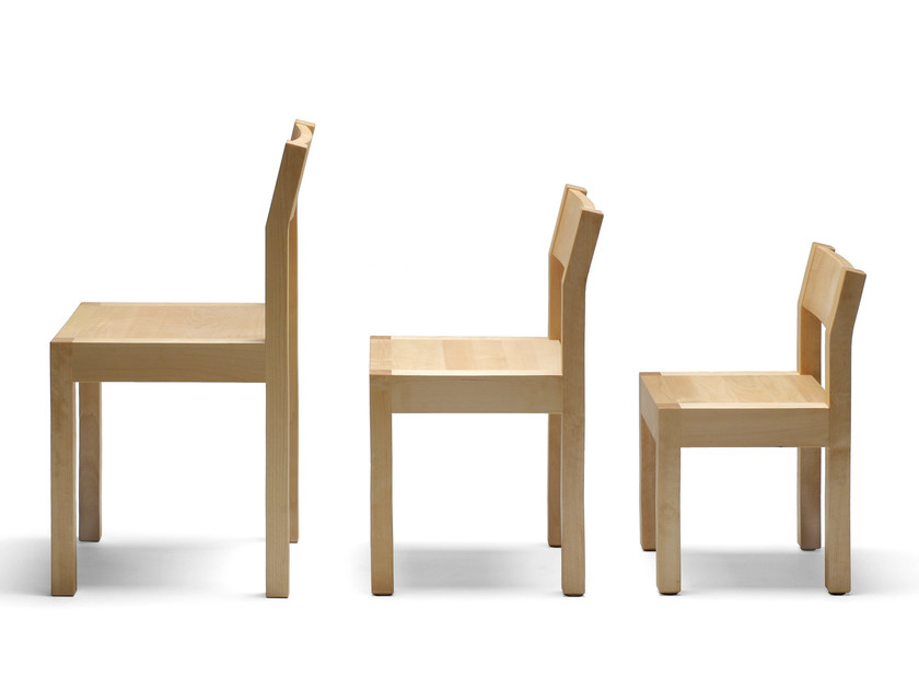 Wooden chair SEMINAR KVLT1-2-3 - Nikari