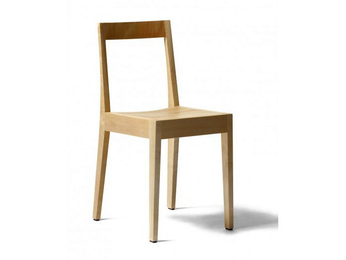 Stackable wooden chair CAFÉ SPIRAL RMS1 - Nikari