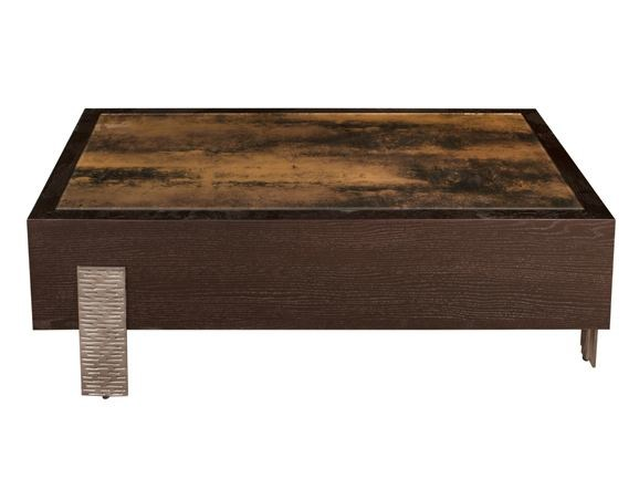 Low Wood And Glass Coffee Table Pompeia Cocktail By Hamilton Conte Paris