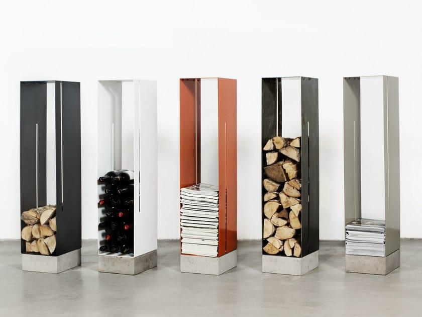 Iron magazine rack / Log holder MANHATTAN | Magazine rack - Röshults