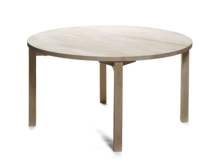 Round wooden table PERIFERIA KVP8-9 by Nikari