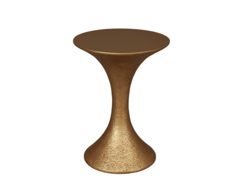 Round resin coffee table INES SIDE - Hamilton Conte Paris