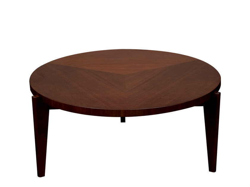 Round wooden coffee table ARHUS | Round coffee table - Hamilton Conte Paris