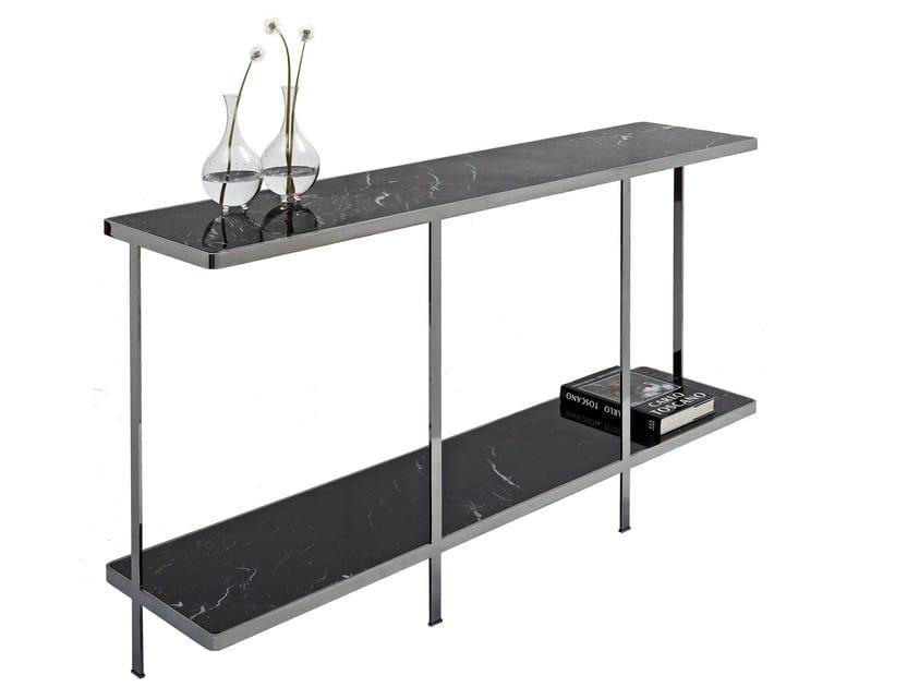 Rectangular metal console table ODILON   Console table - Nube Italia