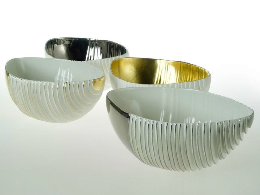 Porcelain serving bowl NOVALIS | Serving bowl - Fos Ceramiche
