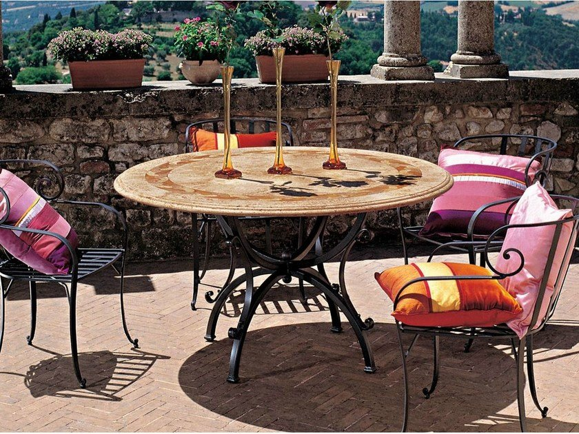 Round garden table CASTELLANO - Talenti