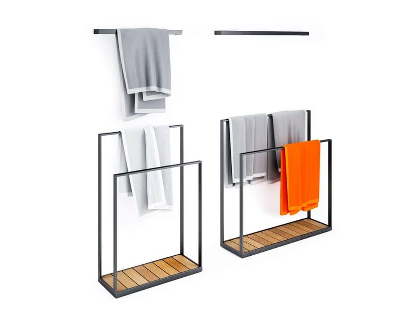 Stainless steel towel rack GARDEN | Towel rack - Röshults