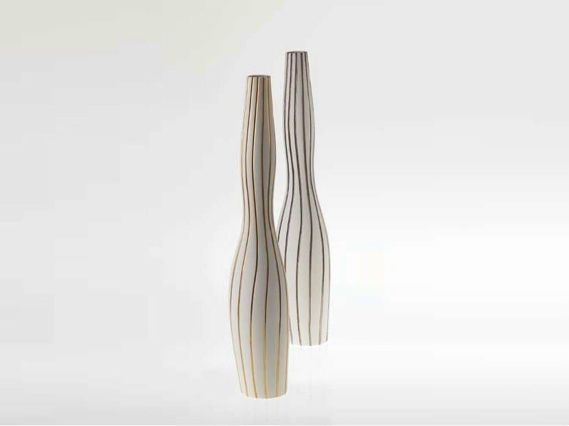 Porcelain vase ANTITHESIS GOLD AND PLATINUM | Vase - Fos Ceramiche
