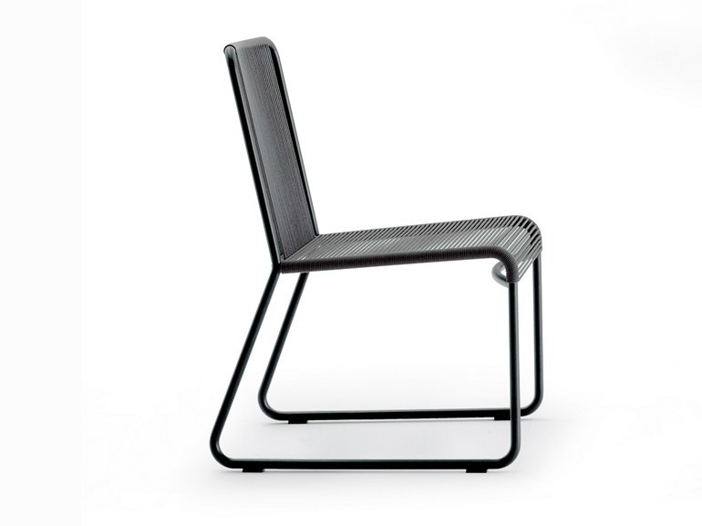 Stainless steel garden chair HARP | Chair - RODA