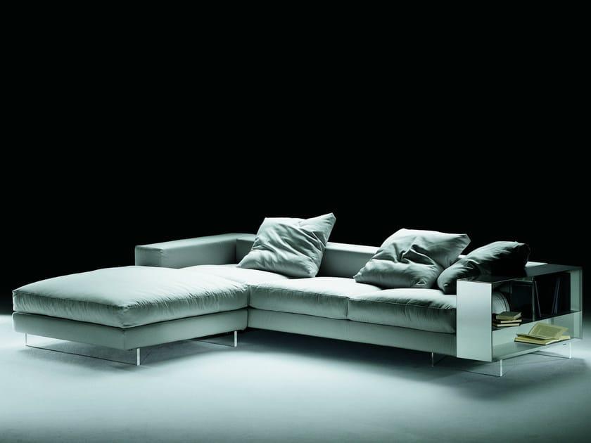 Divano angolare componibile con bracciolo contenitore divano componibile collezione lightpiece - Divano componibile angolare ...