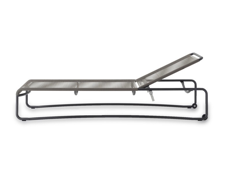 Recliner stainless steel garden daybed with Casters HARP | Garden daybed - RODA