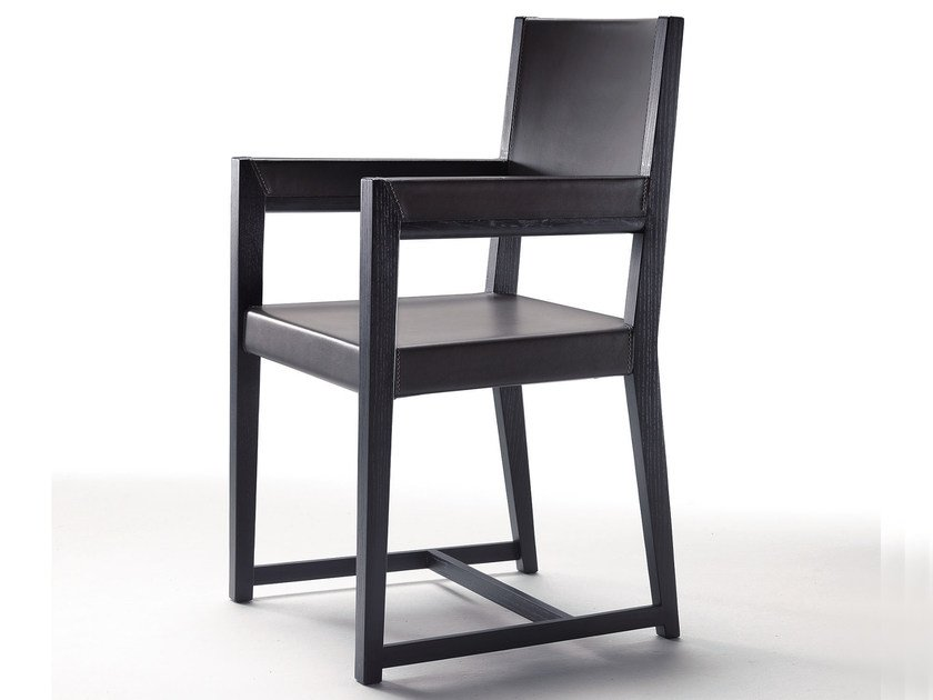 Solid wood chair with armrests MARGARET | Chair with armrests - FLEXFORM