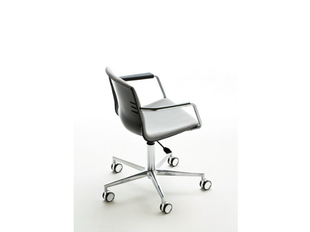 Swivel task chair with 5-Spoke base with armrests MIA | Swivel task chair - Mara