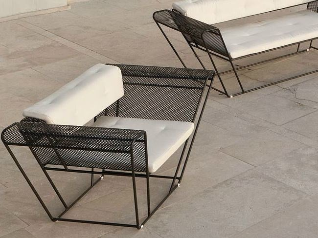 Steel garden armchair with armrests FLOAT | Armchair - Talenti
