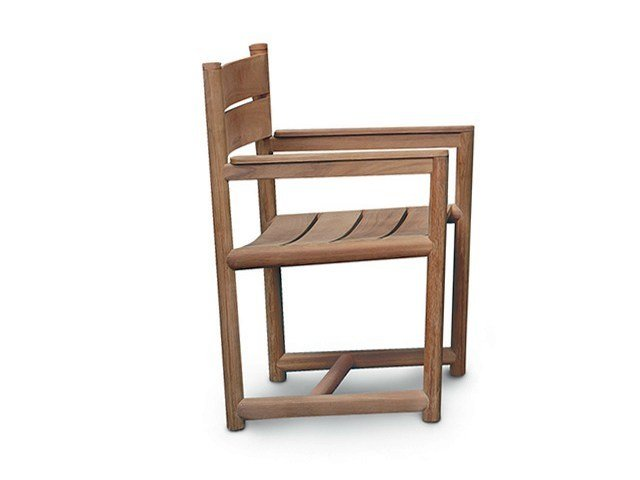 Teak garden chair with armrests ORSON | Chair with armrests by RODA