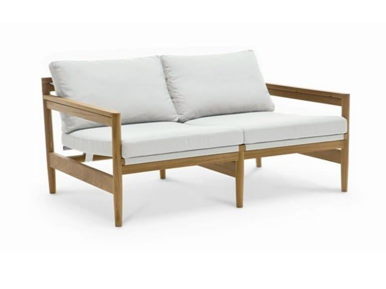 2 seater teak garden sofa ROAD | 2 seater sofa - RODA