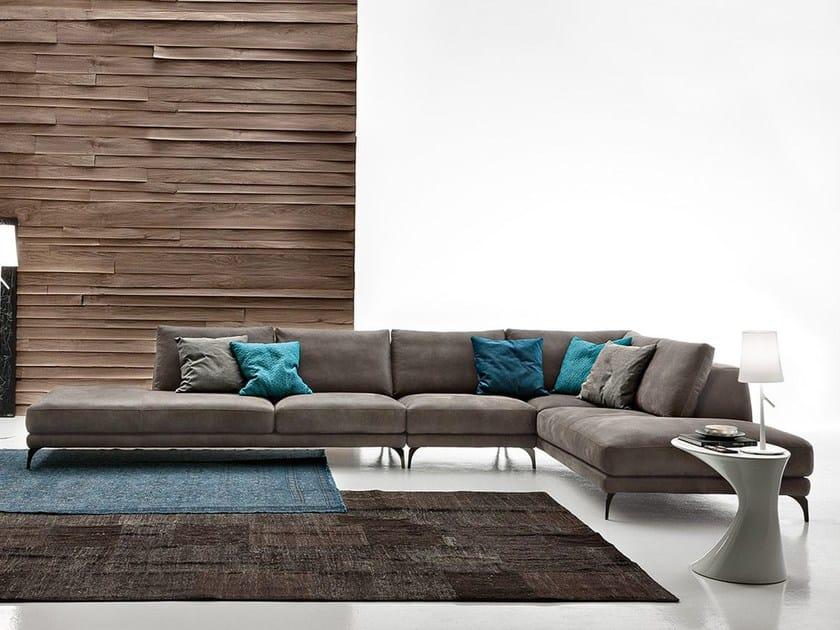 Corner imitation leather sofa FOSTER LEATHER | Corner sofa - Ditre Italia