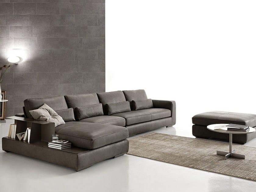 Divano angolare componibile in pelle loman leather ditre italia - Copridivano angolare per divano in pelle ...