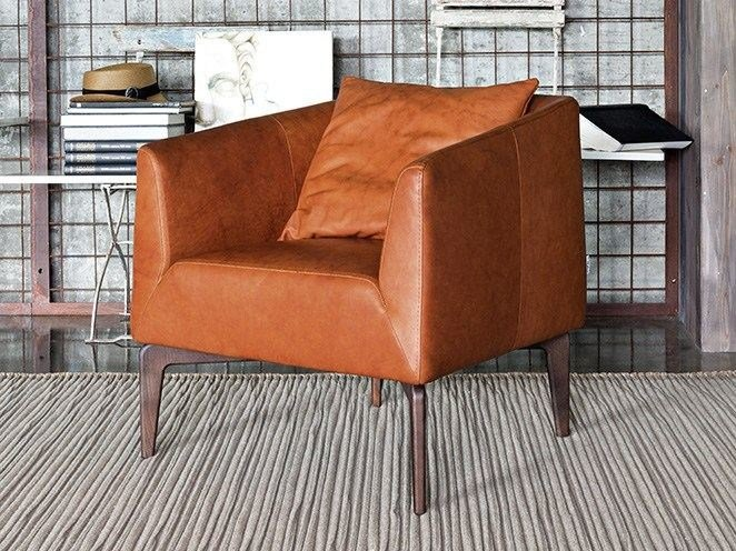 Leather armchair with armrests JEN by Ditre Italia