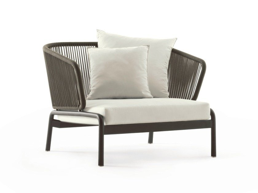 Stainless steel garden armchair SPOOL | Garden armchair - RODA