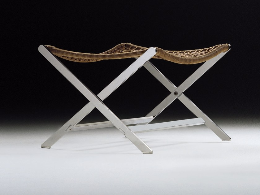 Woven leather cord stool PETER | Stool - FLEXFORM