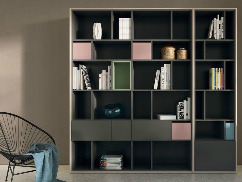 Open lacquered bookcase SCOPIA   Open bookcase - Hülsta-Werke Hüls