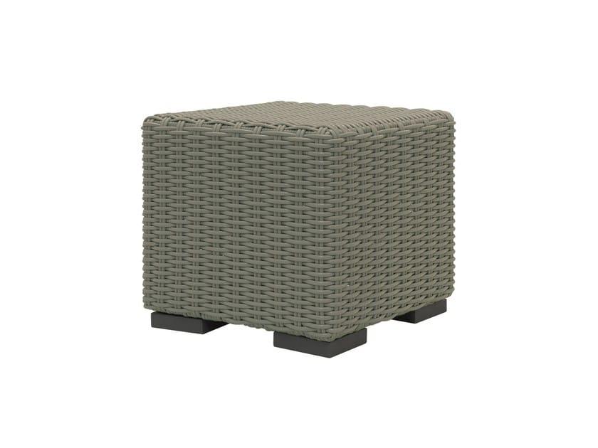 Square polyethylene garden pouf INOUT 611 by Gervasoni