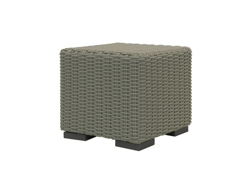 Square polyethylene garden pouf INOUT 611 - Gervasoni