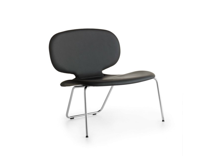 Upholstered leather easy chair ALIS XXL | Upholstered easy chair by Crassevig