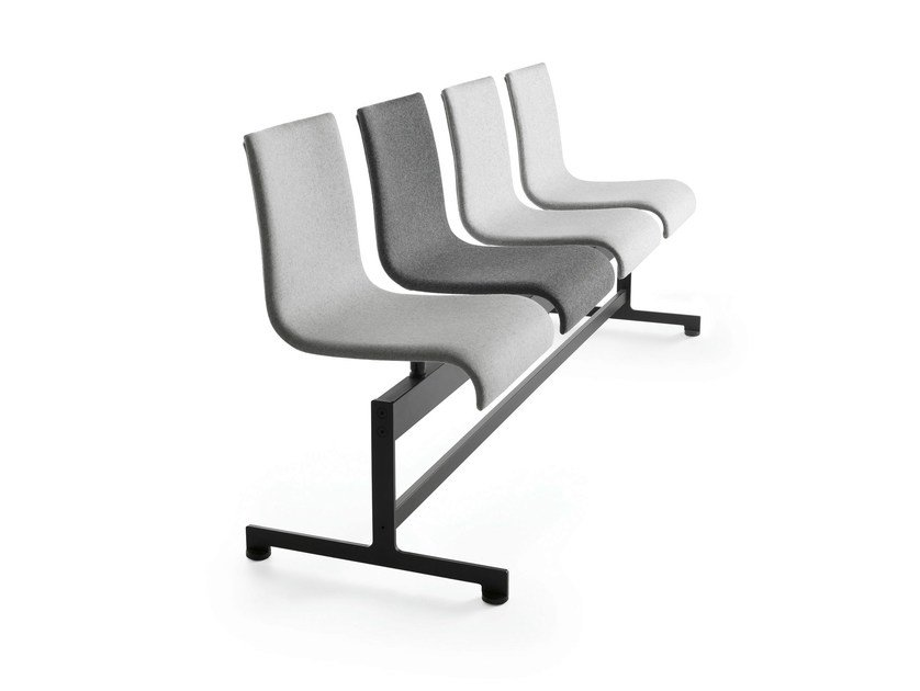 Powder coated steel beam seating ASIA BA | Beam seating by Crassevig