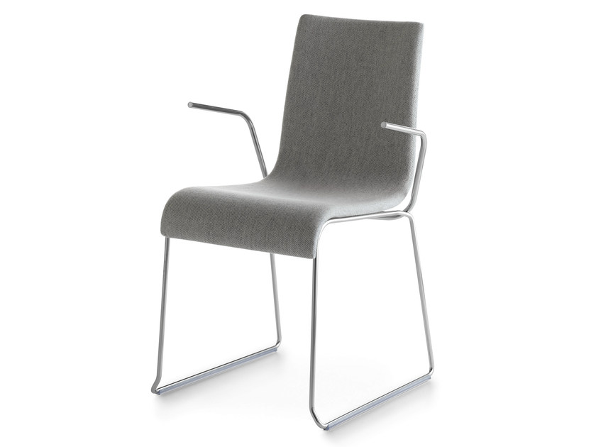 Sled base upholstered chair with armrests ASIA 2001 P | Chair with armrests - Crassevig