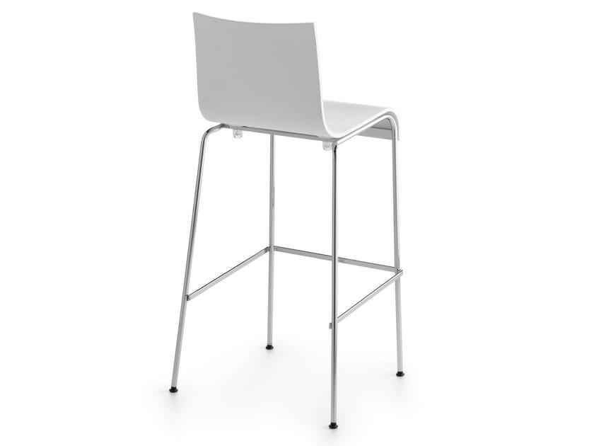 Stackable stool ASIA 65/73/82 | Wood veneer stool - Crassevig