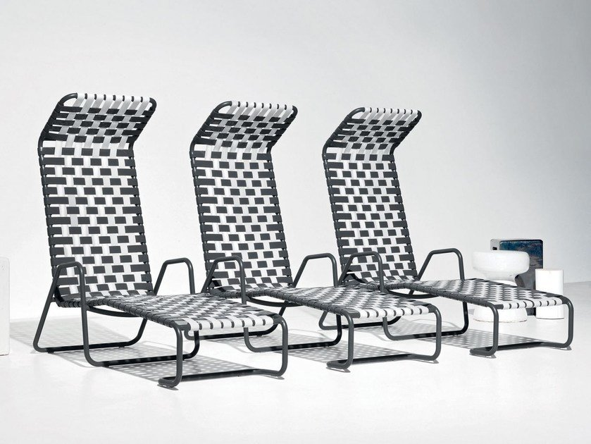 Deck chair with armrests with footrest INOUT 881 F - Gervasoni