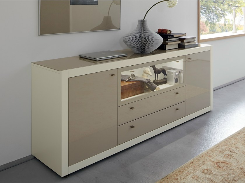 Lacquered sideboard with doors with drawers XELO | Sideboard - Hülsta-Werke Hüls