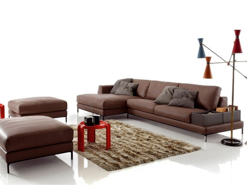 Corner imitation leather sofa ARTIS LEATHER | Corner sofa - Ditre Italia