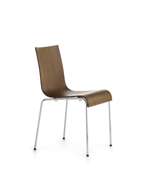 Stackable wood veneer chair ASIA R | Stackable chair - Crassevig