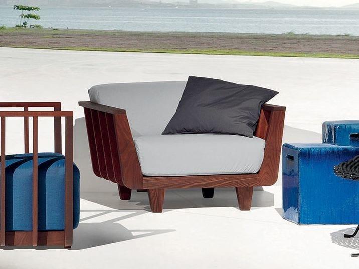 Garden armchair with armrests INOUT 905 - Gervasoni