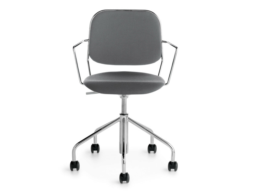 Task chair with armrests with casters BAY P/SW - Crassevig