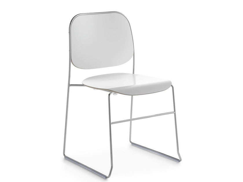 Sled base stackable chair BAY R | Sled base chair - Crassevig