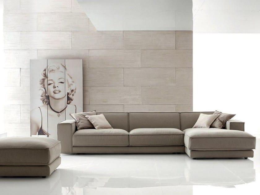 Corner fabric sofa BUBLÈ | Corner sofa - Ditre Italia